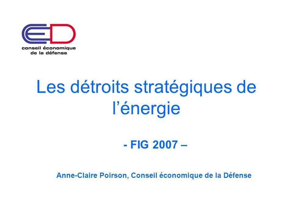 Les détroits stratégiques de l'énergie