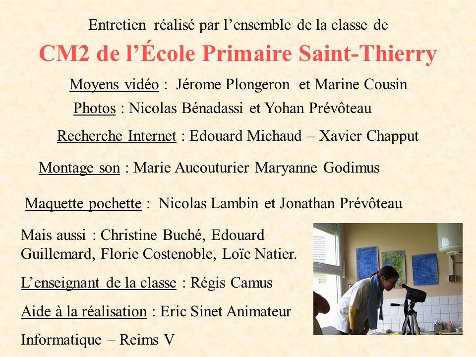 CM2 de l'École Primaire Saint-Thierry