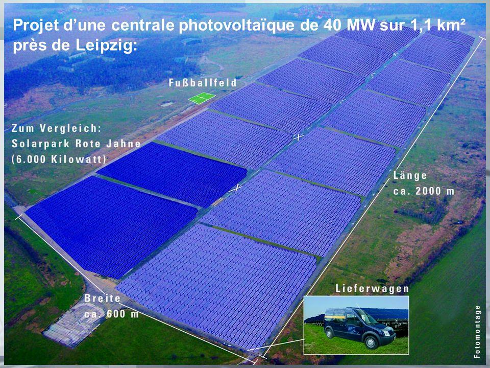 Projet d'une centrale photovoltaïque de 40 MW sur 1,1 km²