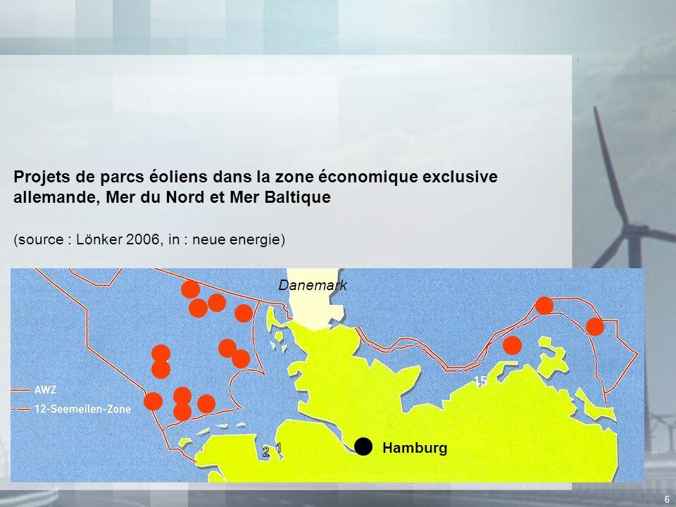 Projets de parcs éoliens dans la zone économique exclusive allemande, Mer du Nord et Mer Baltique