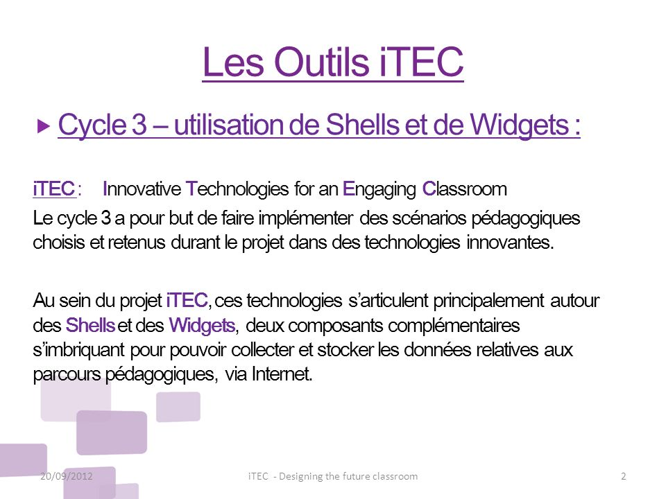 iTEC - Designing the future classroom