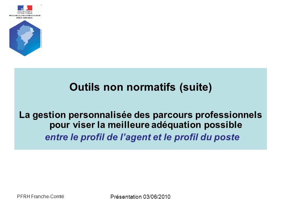 Outils non normatifs (suite)