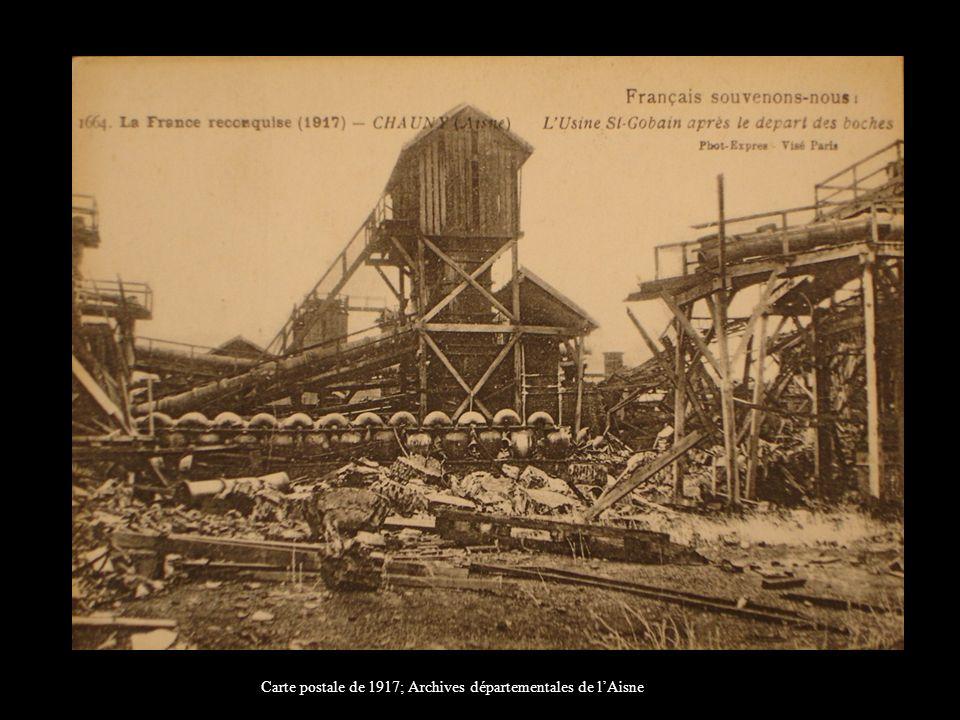 Carte postale de 1917; Archives départementales de l'Aisne