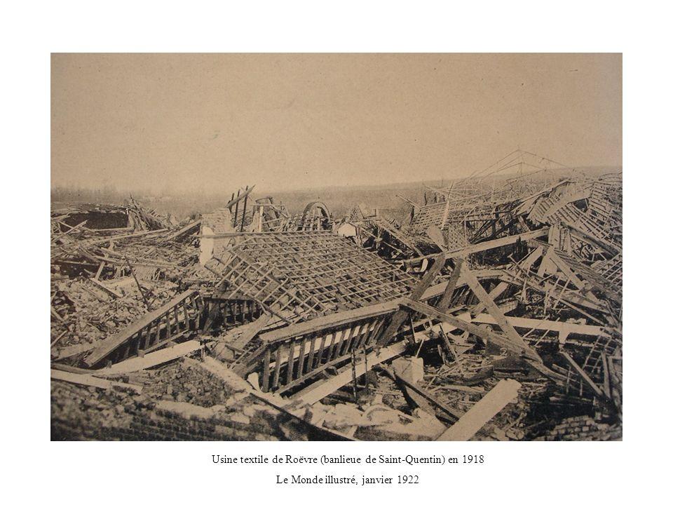 Usine textile de Roëvre (banlieue de Saint-Quentin) en 1918