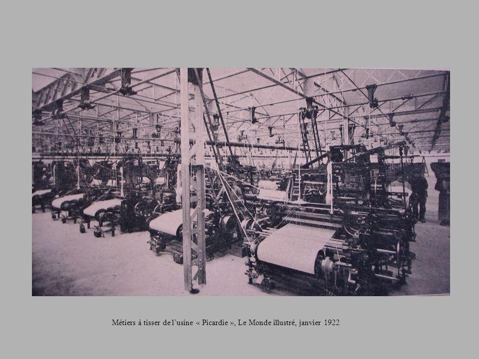 Métiers à tisser de l'usine « Picardie », Le Monde illustré, janvier 1922