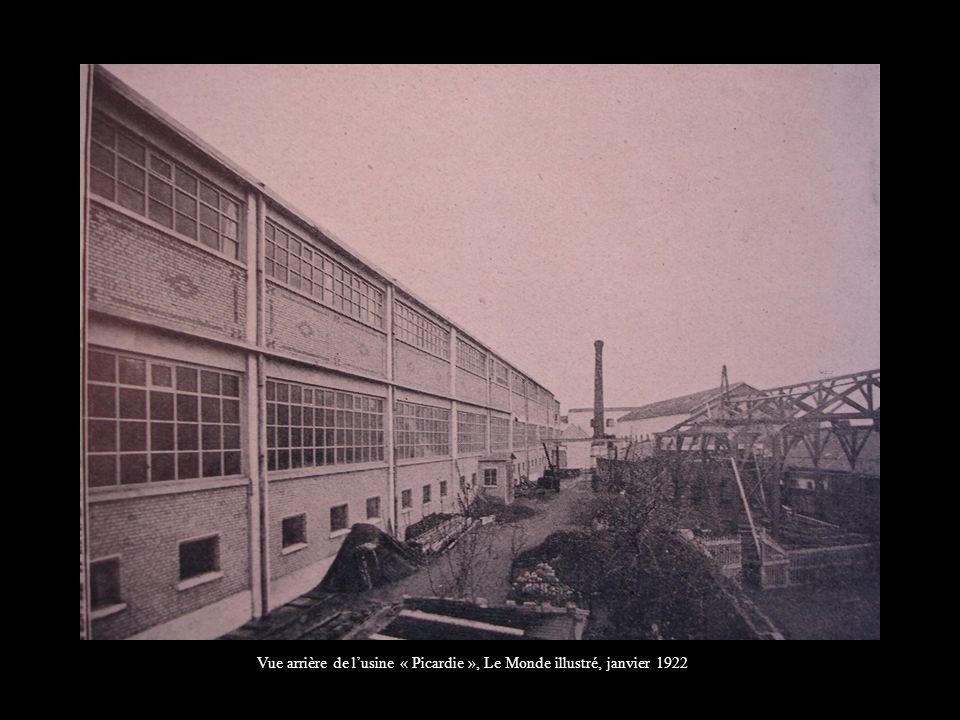 Vue arrière de l'usine « Picardie », Le Monde illustré, janvier 1922