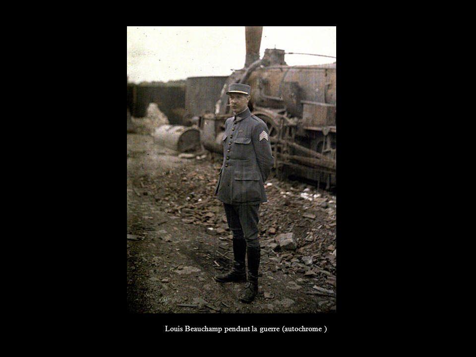 Louis Beauchamp pendant la guerre (autochrome )