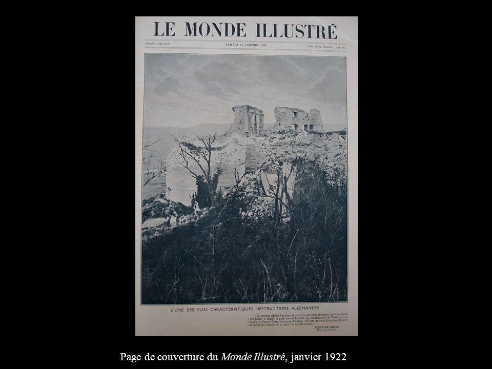 Page de couverture du Monde Illustré, janvier 1922