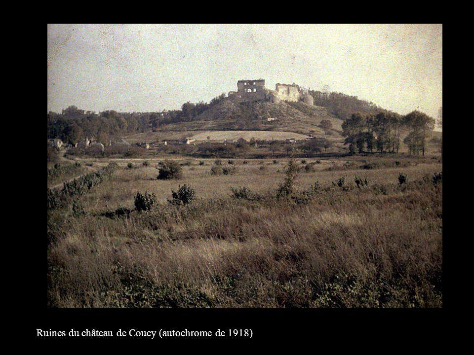 Ruines du château de Coucy (autochrome de 1918)