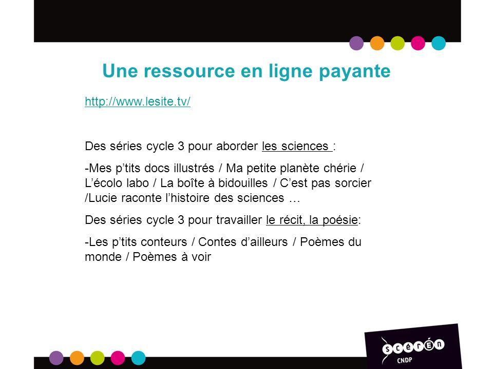 Une ressource en ligne payante