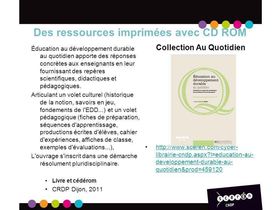 Des ressources imprimées avec CD ROM