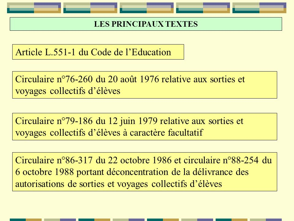 Article L.551-1 du Code de l'Education