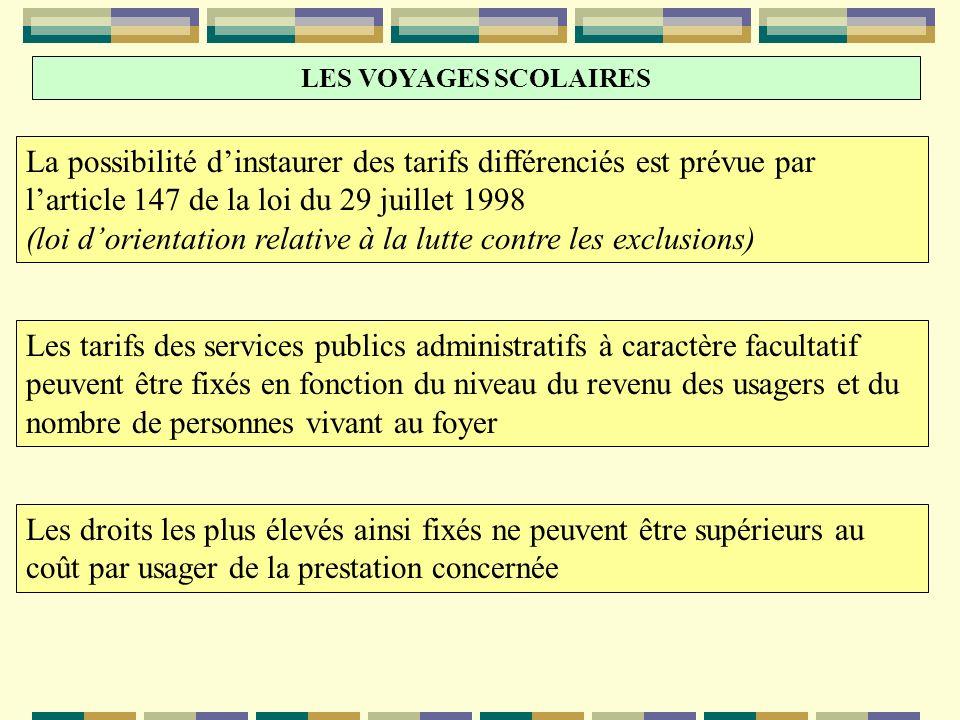 (loi d'orientation relative à la lutte contre les exclusions)