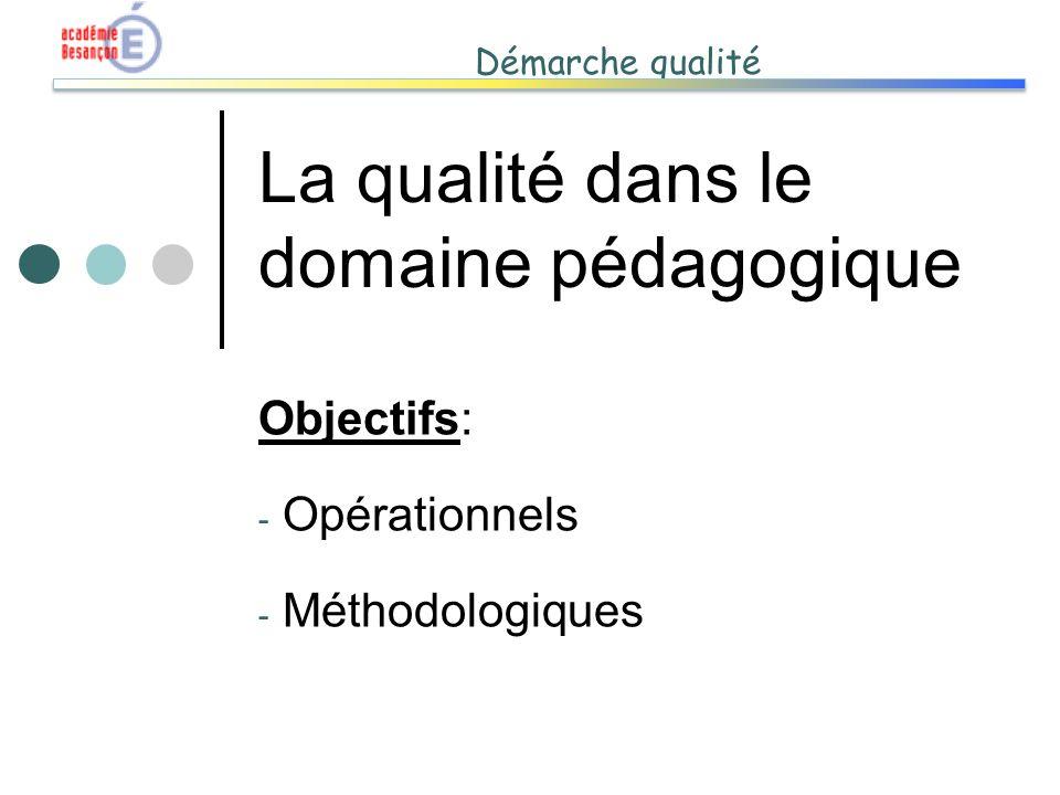 La qualité dans le domaine pédagogique