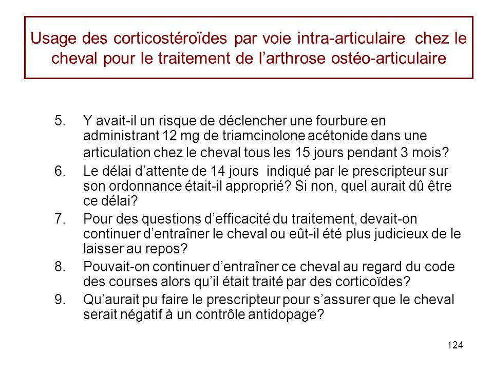 Usage des corticostéroïdes par voie intra-articulaire chez le cheval pour le traitement de l'arthrose ostéo-articulaire