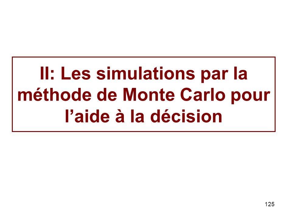 II: Les simulations par la méthode de Monte Carlo pour l'aide à la décision