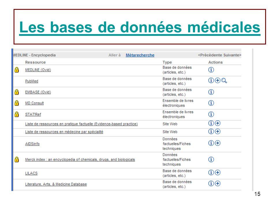 Les bases de données médicales