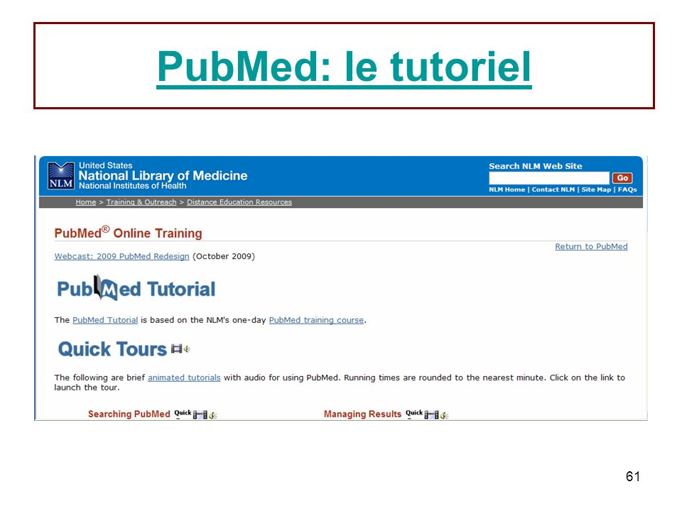 PubMed: le tutoriel