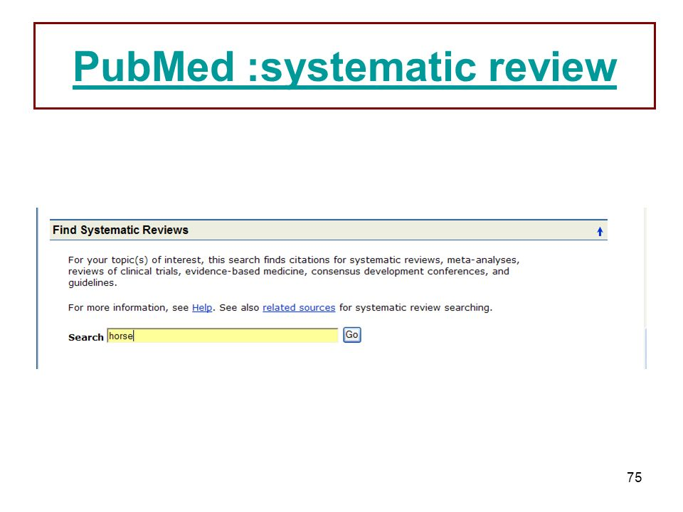 PubMed :systematic review