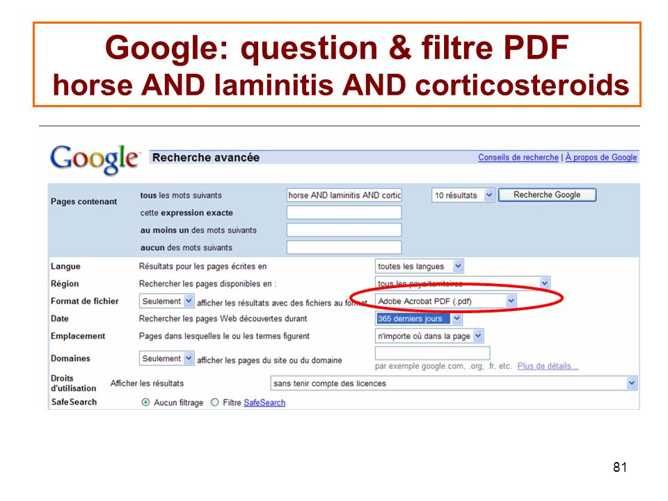 Google: question & filtre PDF horse AND laminitis AND corticosteroids