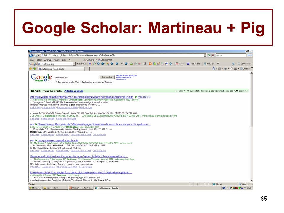 Google Scholar: Martineau + Pig