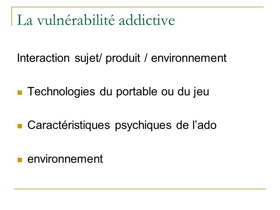 La vulnérabilité addictive