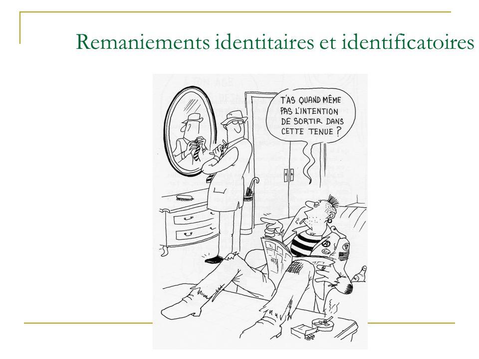 Remaniements identitaires et identificatoires