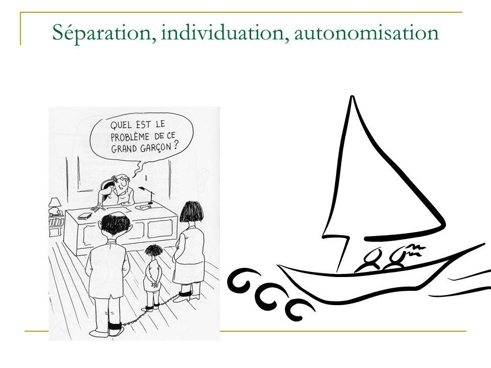 Séparation, individuation, autonomisation
