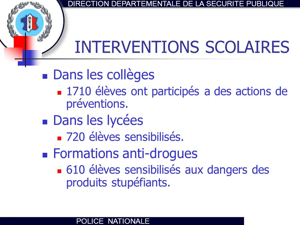 INTERVENTIONS SCOLAIRES