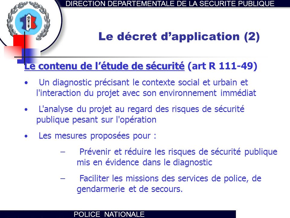 Le décret d'application (2)