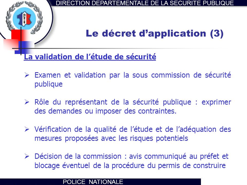Le décret d'application (3)