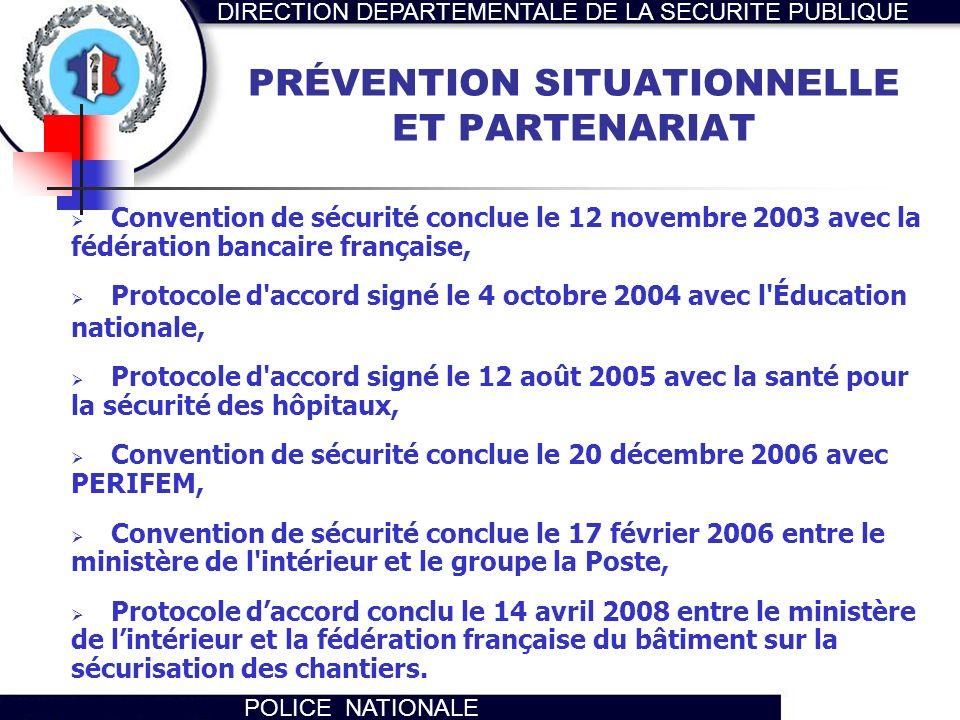 PRÉVENTION SITUATIONNELLE ET PARTENARIAT