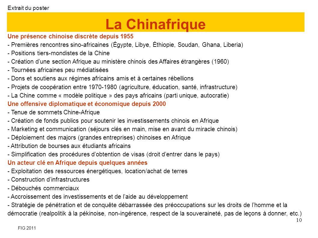 La Chinafrique Une présence chinoise discrète depuis 1955