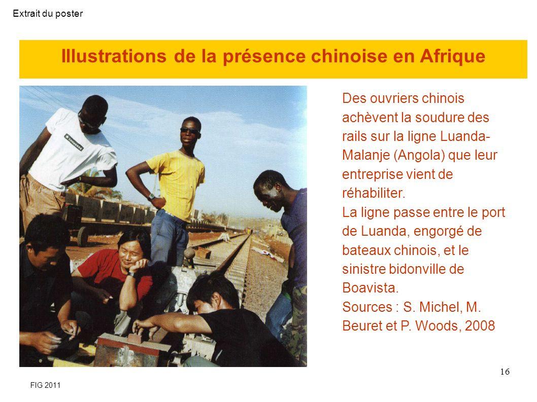 Illustrations de la présence chinoise en Afrique