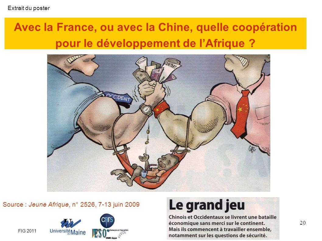 Extrait du poster Avec la France, ou avec la Chine, quelle coopération pour le développement de l'Afrique
