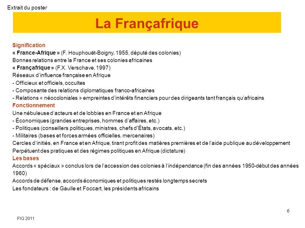 La Françafrique Extrait du poster Signification