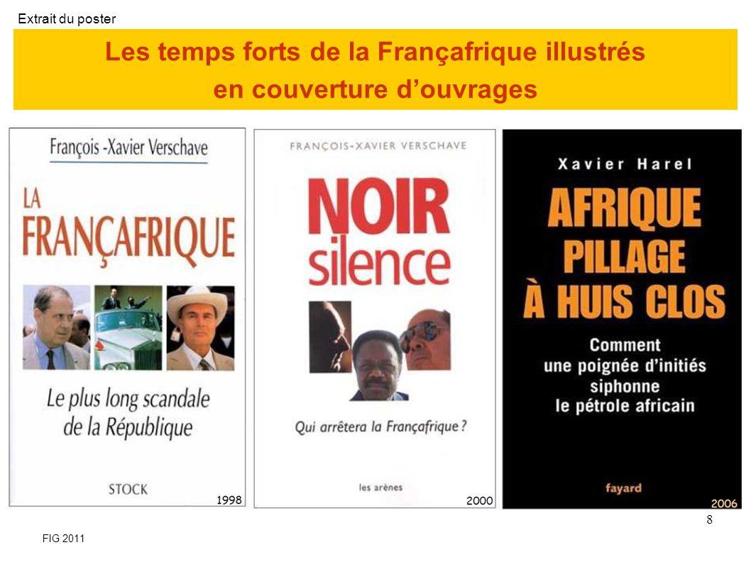 Les temps forts de la Françafrique illustrés en couverture d'ouvrages