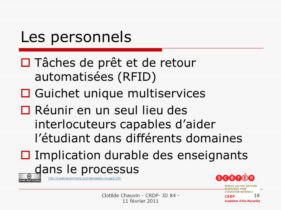 Clotilde Chauvin - CRDP- JD 84 - 11 février 2011