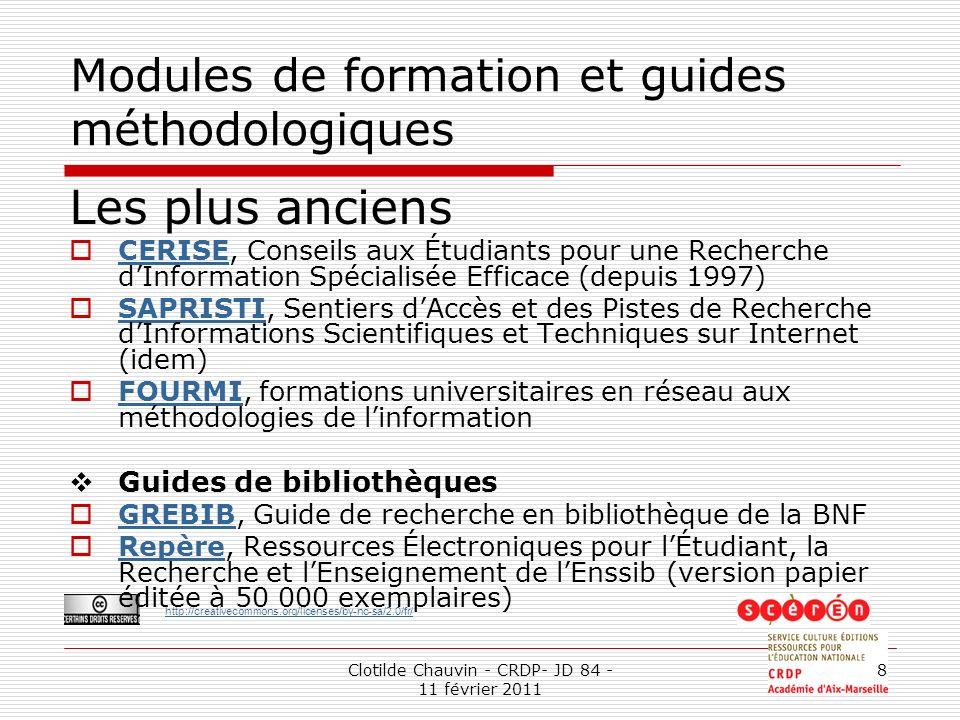 Modules de formation et guides méthodologiques