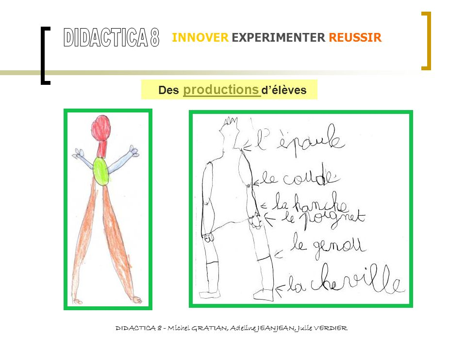 DIDACTICA 8 INNOVER EXPERIMENTER REUSSIR Des productions d'élèves