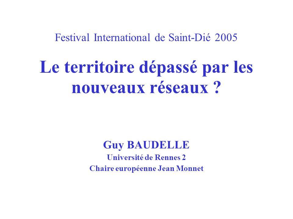 Guy BAUDELLE Université de Rennes 2 Chaire européenne Jean Monnet