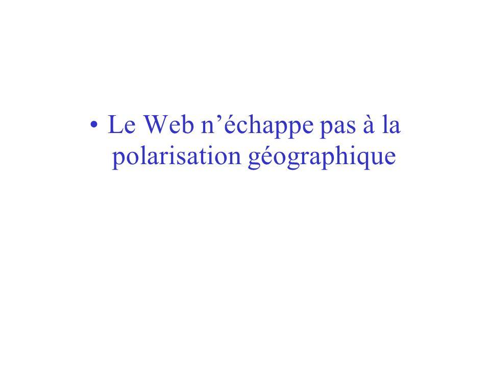 Le Web n'échappe pas à la polarisation géographique