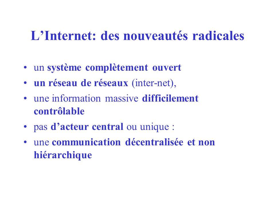 L'Internet: des nouveautés radicales