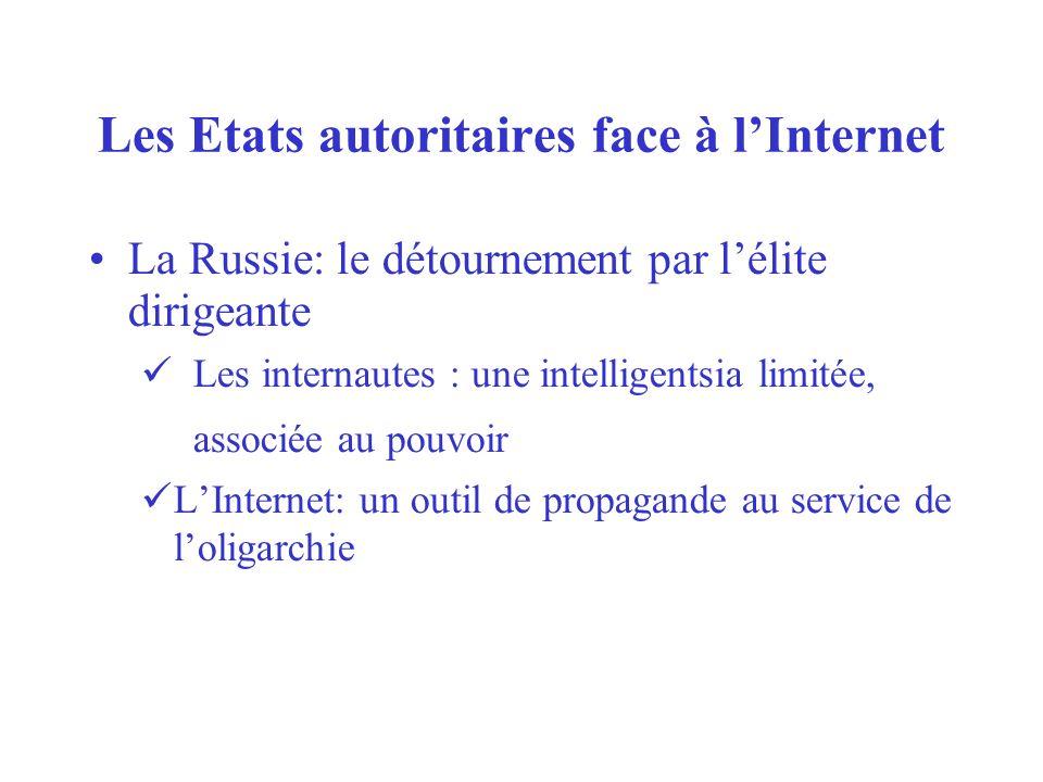 Les Etats autoritaires face à l'Internet