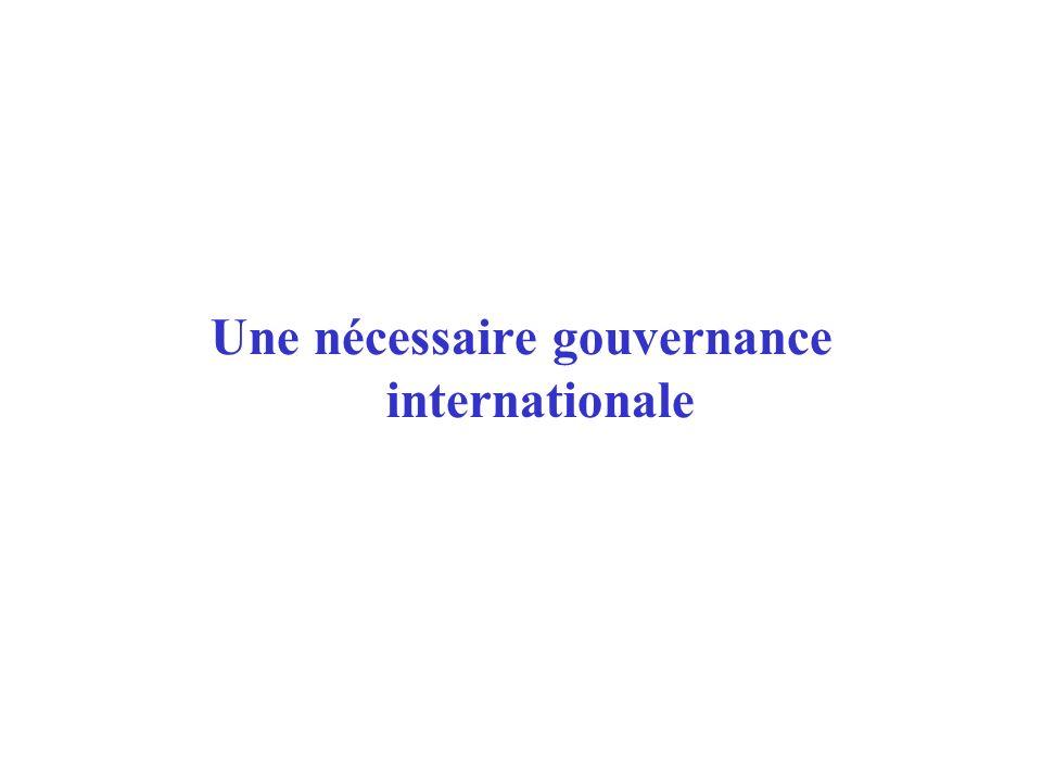 Une nécessaire gouvernance internationale