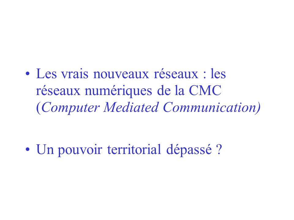 Les vrais nouveaux réseaux : les réseaux numériques de la CMC (Computer Mediated Communication)