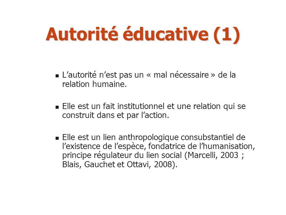 Autorité éducative (1) L'autorité n'est pas un « mal nécessaire » de la relation humaine.