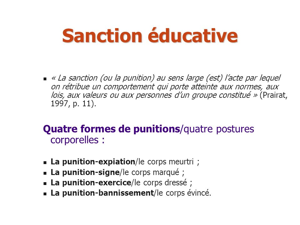 Sanction éducative