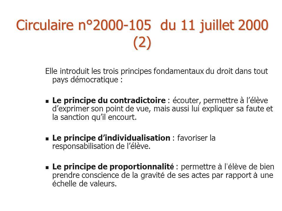 Circulaire n°2000-105 du 11 juillet 2000 (2)
