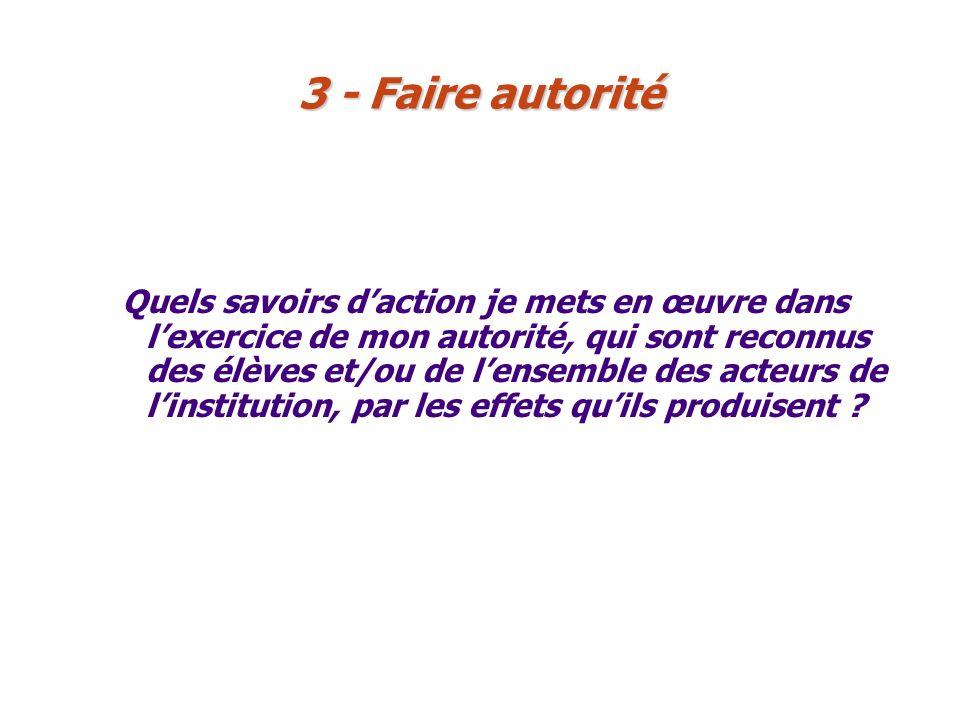 3 - Faire autorité